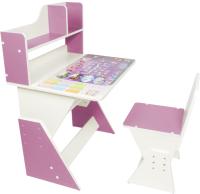 Парта+стул Я сам Первое место. Леди (розовый) -