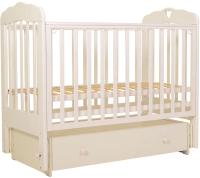 Детская кроватка Топотушки Мария-6 Сердечко / 90 (слоновая кость) -