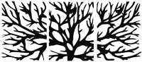 Декор настенный Arthata Ветви дерева 160x70-B / 004-3 (черный) -