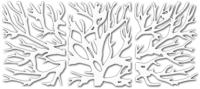 Декор настенный Arthata Ветви дерева 105x50-V / 004-3 (белый) -