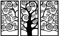 Декор настенный Arthata Ветер 95x145-B / 015-3 (черный) -