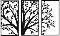Декор настенный Arthata Триптих 115x75-B / 002-3 (черный) -
