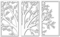 Декор настенный Arthata Триптих 115x75-V / 002-3 (белый) -