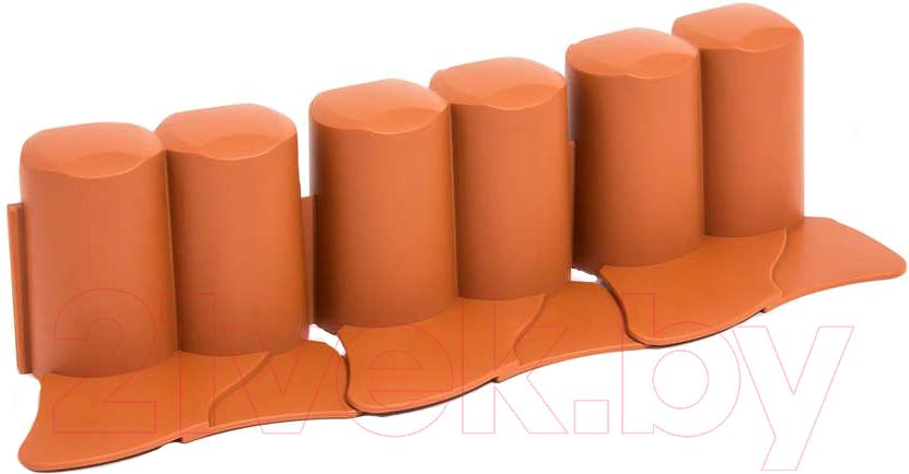 Купить Изгородь декоративная Prosperplast, Palisada Ogrodowa IPAL6-R624 (терракот), Польша, коричневый, пластик