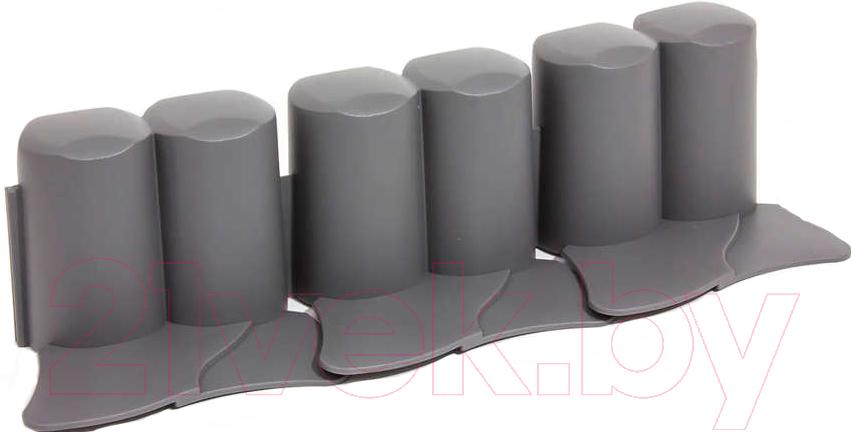 Изгородь декоративная Prosperplast, Palisada Ogrodowa IPAL6-S443 (черный), Польша, серый, пластик  - купить со скидкой