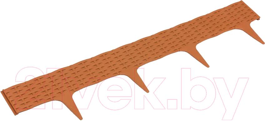 Купить Забор декоративный Prosperplast, Garden Border IBRA-R624 (терракот), Польша, коричневый, пластик