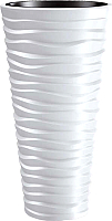 Кашпо Prosperplast Donica Sand Slim DPSA350-S449 (белый) -