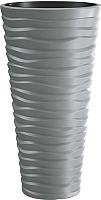 Кашпо Prosperplast Sand Slim DPSA350-405U (серый камень) -