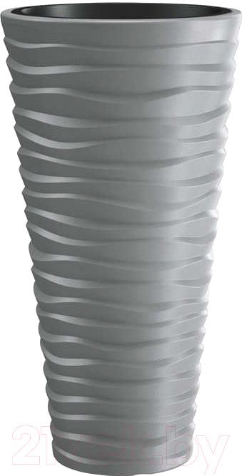 Купить Кашпо Prosperplast, Sand Slim DPSA350-405U (серый камень), Польша, пластик