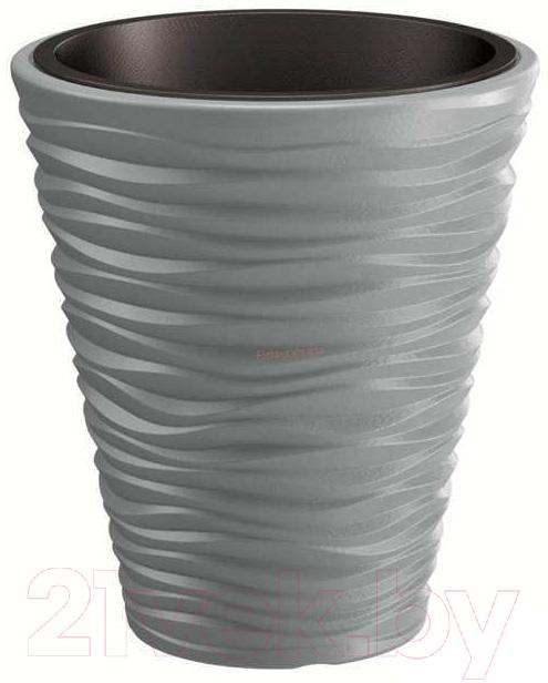 Купить Кашпо Prosperplast, Sand DBSA400-405U (серый камень), Польша, пластик