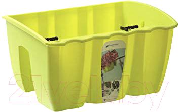 Купить Кашпо Prosperplast, Crown DCRO400-389U (лимонный), Польша, пластик