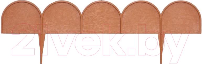 Купить Изгородь декоративная Prosperplast, Garden Line IKRA-R624 (терракот), Польша, коричневый, пластик