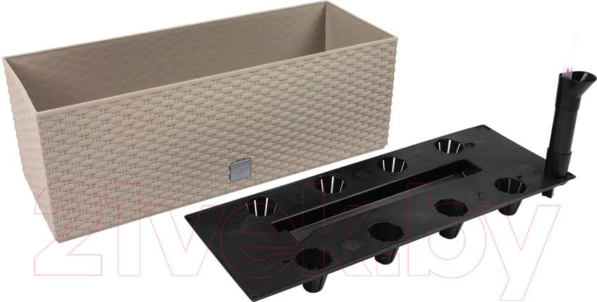 Купить Кашпо Prosperplast, Rato case DRTC600-7529U (мокко), Польша, пластик