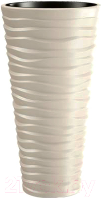 Купить Кашпо Prosperplast, Sand Slim DPSA400-CY728 (кремовый), Польша, пластик