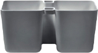 Кашпо Prosperplast Twins Cube DTC245-426U (графитовый) -