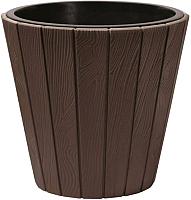 Кашпо Prosperplast Woode DBWO490-R222 (коричневый) -