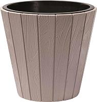 Кашпо Prosperplast Woode DBWO490-7529U (мокко) -