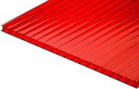 Сотовый поликарбонат TitanPlast 2100x6000x3.8 (красный) -
