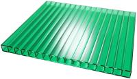 Сотовый поликарбонат TitanPlast 2100x6000x6 (зеленый) -