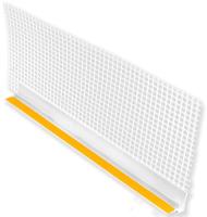 Профиль примыкающий оконный Эверестстрой ПВХ с защитной манжетой (6ммx2.4м) -