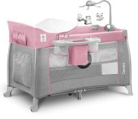 Кровать-манеж Lionelo Thomi (розовый) -