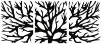 Декор настенный Arthata Ветви дерева 190x95-B / 004-3 (черный) -