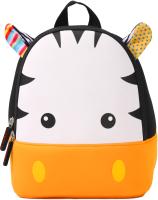 Детский рюкзак Sun Eight Зебра / SE-sp035-05 (белый/черный/оранжевый) -