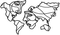 Декор настенный Arthata Мир двоих 120x70-B / 011-5 (черный) -