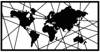 Декор настенный Arthata Карта мира 80x40-B / 001-1 (черный) -