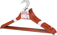 Набор вешалок-плечиков Brabix Стандарт р.48-50 / 601161 (5шт, вишня) -