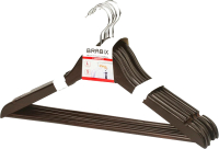 Набор вешалок-плечиков Brabix Стандарт р.48-50 / 601162 (5шт, шоколад) -