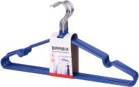 Набор вешалок-плечиков Brabix Стандарт р.48-50 / 601166 (10шт, синий) -