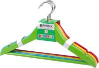 Набор вешалок-плечиков Brabix Kids р.36-40 / 601175 (4шт, ассорти) -