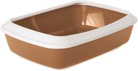 Туалет-лоток Savic Iriz 42 / 02630WHZ (белый/коричневый) -