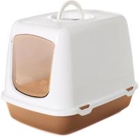 Туалет-домик Savic Oscar / 02650WHZ (белый/коричневый) -