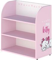 Стеллаж Polini Kids Disney Baby 810 Кошка Мари / 0002338.69 (белый/розовый) -