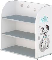 Стеллаж Polini Kids Disney Baby 810 101 Далматинец / 0002326.55 (белый/серый) -