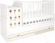 Детская кровать-трансформер Polini Kids Simple 1100 Сонные котята / 0001442.9.7 (белый) -