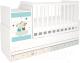 Детская кровать-трансформер Polini Kids Simple 1100 Лучшие друзья / 0001442.9.6 (белый) -