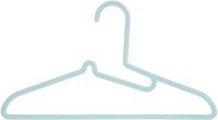 Набор вешалок-плечиков Miniso 4334 (5шт, мятно-зеленый) -