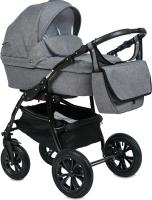 Детская универсальная коляска Alis Berta F 3 в 1 (Be 02, темно-серый) -