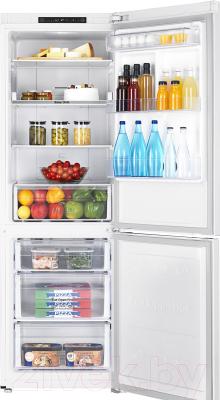 Холодильник с морозильником Samsung RB30A30N0WW/WT