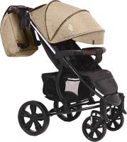 Детская прогулочная коляска Bubago Model One 1120 (Beige/Black) -
