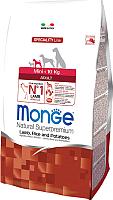 Корм для собак Monge Mini Adult All Breeds lamb, Rice&Potato (15кг) -