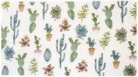 Коврик под миску Tarhong Cactus / TPMMT0200PMS (белый с рисунком) -