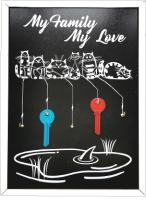 Ключница настенная Grifeldecor My Family My Love / BZ212-4B436 (черный) -