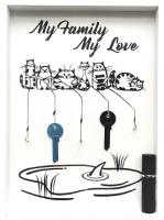 Ключница настенная Grifeldecor My Family My Love / BZ212-4W437 (белый) -
