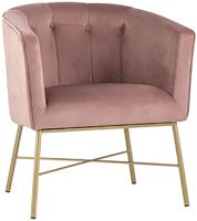 Кресло мягкое Stool Group Шале / FALETTE PINK (велюр розовый) -