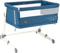 Детская кровать-трансформер Nuovita Accanto Calma (темно-синий лен) -