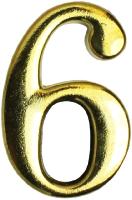 Цифра дверная Аллюр 6 на клеевой основе / 5074 (золото) -